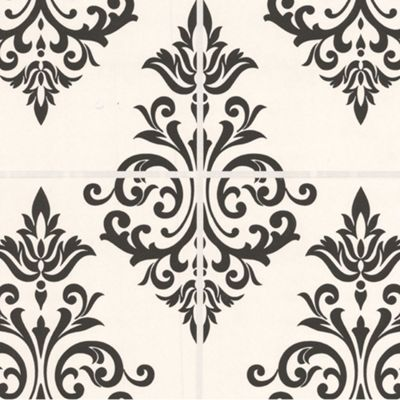 Contour Black/White Pallade Wallpaper - . -