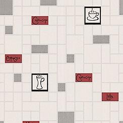 Contour - Rouge/Noir Cappuccino Wallpaper