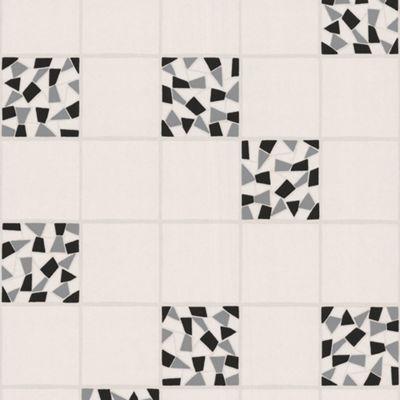 Contour Black/Grey Mosaic Wallpaper - . -