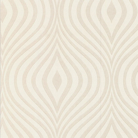 Superfresco Paintables - White Curvy wallpaper