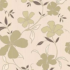 Superfresco Easy - Green/Cream Rapture Wallpaper