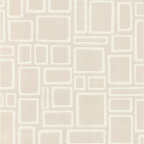 Superfresco Paintables - White Large Squares Wallpaper