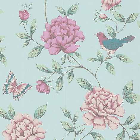 Monsoon Home - Duck Egg Isabelle wallpaper