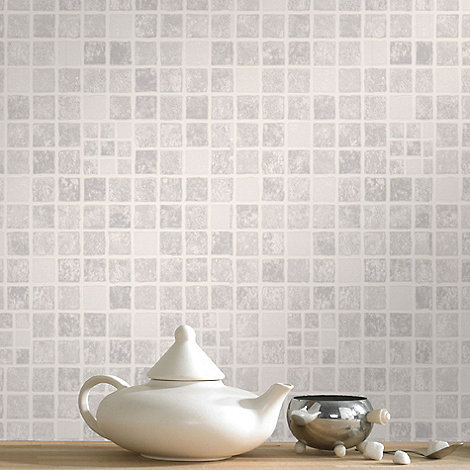 Contour - Grey Mid Earthen Wallpaper