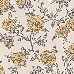 Superfresco Easy - Yellow Rosa Wallpaper
