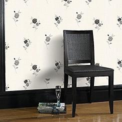 Superfresco - Black Rosalyn Wallpaper