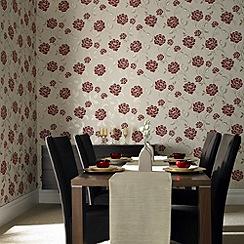 Superfresco - Red fleur wallpaper