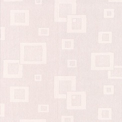 Superfresco Paintables - White Floating Squares Wallpaper