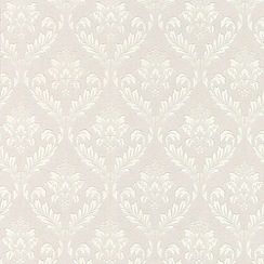 Superfresco Paintables - White Medium Damask Wallpaper