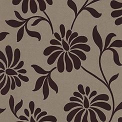 Barbara Hulanicki - Grape Ophelia flock wallpaper