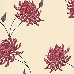 Superfresco - Red/Beige Eve Wallpaper