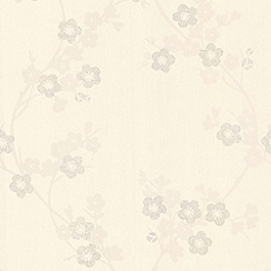 Superfresco - White Mica Cherry Blossom Wallpaper