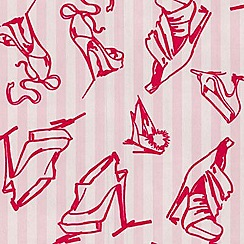 Barbara Hulanicki - Scarlet Shoes flock wallpaper