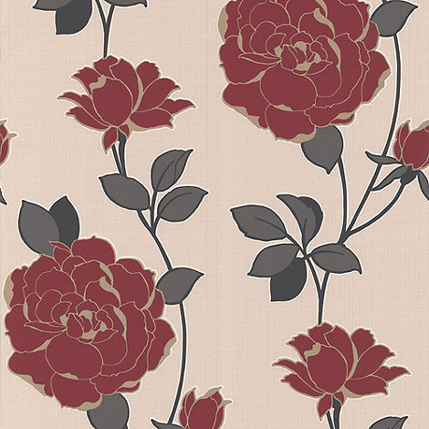 Superfresco - Red Rosy wallpaper