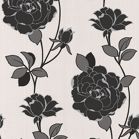 Superfresco - Black Rosy wallpaper