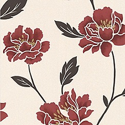 Superfresco - Ruby Peony Wallpaper