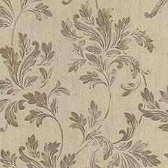 Superfresco - Beige Acanthus Wallpaper