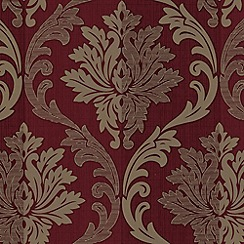 Superfresco - Red/Cream Splendour Wallpaper