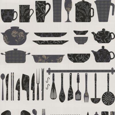Contour Black Making A Crockery Wallpaper - . -