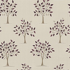 Contour - Plum Willow Wallpaper