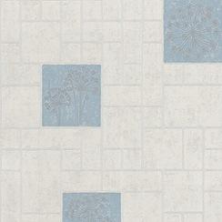 Contour - Blue Parsley Wallpaper