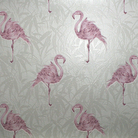 Contour - Pink Flamingo Wallpaper