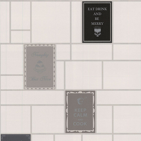 Contour - Black Keep Calm Wallpaper