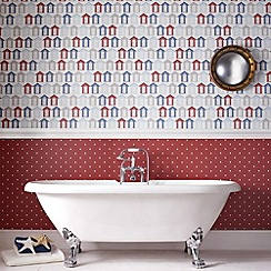 Contour - Red Dotty Wallpaper