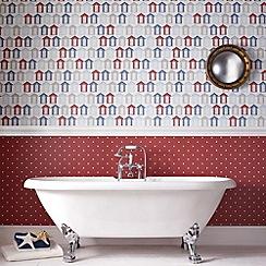 Contour - Red Dotty Wallpaper