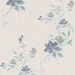 Superfresco - Blue Reed Wallpaper
