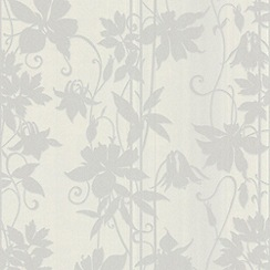 Laurence Llewelyn-Bowen - White Marble LLB Paradise Garden Wallpaper
