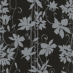 Laurence Llewelyn-Bowen - Midnight Black LLB Paradise Garden Wallpaper