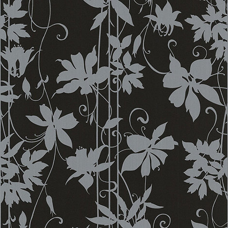 Laurence Llewelyn-Bowen - Midnight Black LLB Paradise Garden Wallpaper