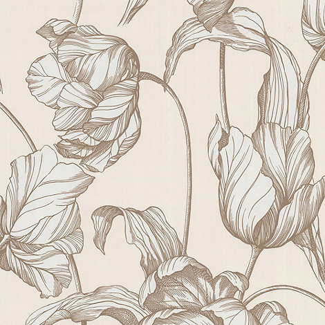 Laurence Llewelyn-Bowen - Topkal Gold Tulips LLB Harem Wallpaper
