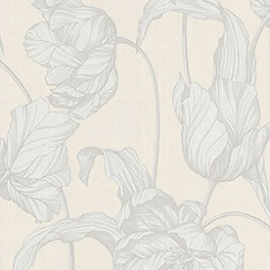 Laurence Llewelyn-Bowen - Pure White Tulips LLB Harem Wallpaper