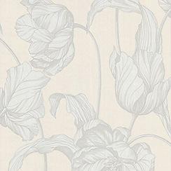 Laurence Llewelyn-Bowen - Pure White Tulips LLB Harem Wallpaper