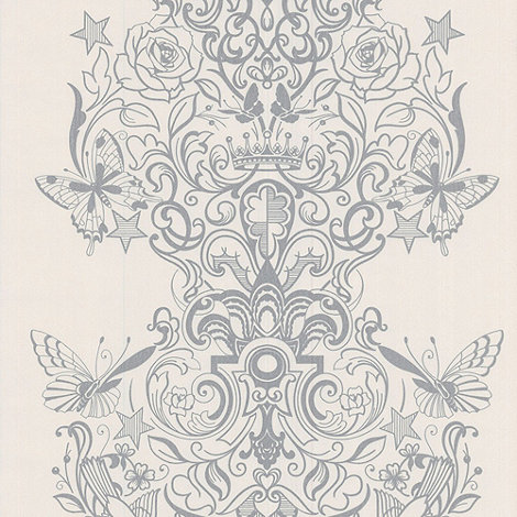 Laurence Llewelyn-Bowen - Silver White Sinbad LLB Wallpaper