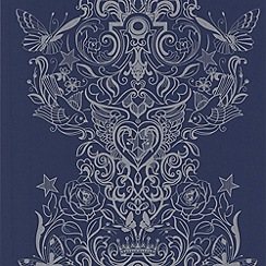 Laurence Llewelyn-Bowen - Blue Ink Sinbad LLB Wallpaper