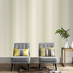 Superfresco - Spring green chambray stripe wallpaper