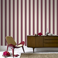 Superfresco - Russet ticking stripe wallpaper