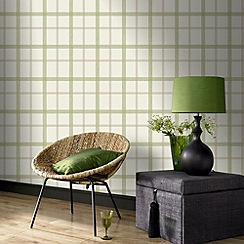 Superfresco - Spring green plaid wallpaper