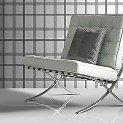 Superfresco - Charcoal plaid wallpaper