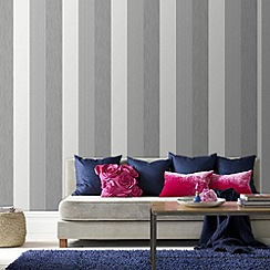 Superfresco - Grey java stripe wallpaper