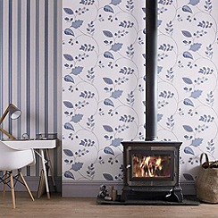 Superfresco - Blue Folklore Wallpaper