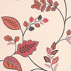 Superfresco - Burnt Orange Folklore Wallpaper