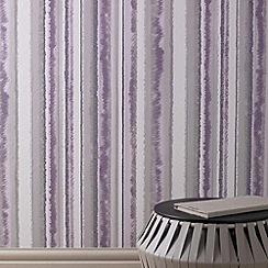 Superfresco - Lavender Romany Stripe Wallpaper