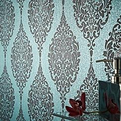 Superfresco - Turquoise Luna Wallpaper