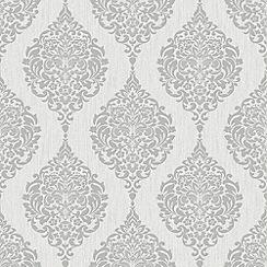 Superfresco - Grey Luna Wallpaper