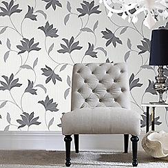 Superfresco - Grey & Silver Alannah Wallpaper