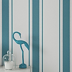 Superfresco - Teal & Silver Orla Wallpaper